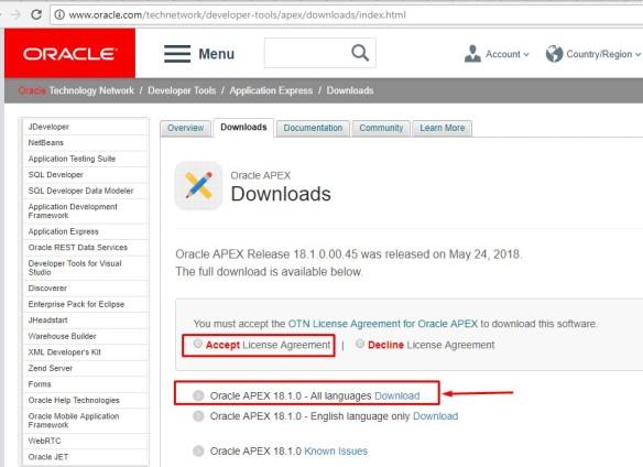INSTALACIÓN ORACLE APPLICATION EXPRESS 18 1 – Oracle Apex 18 1